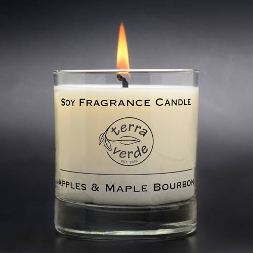 Apples & Maple Bourbon 8oz Soy Candle