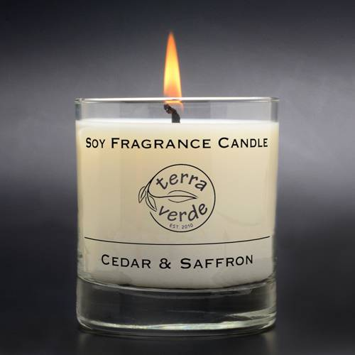 Cedar & Saffron 8oz Soy Candles