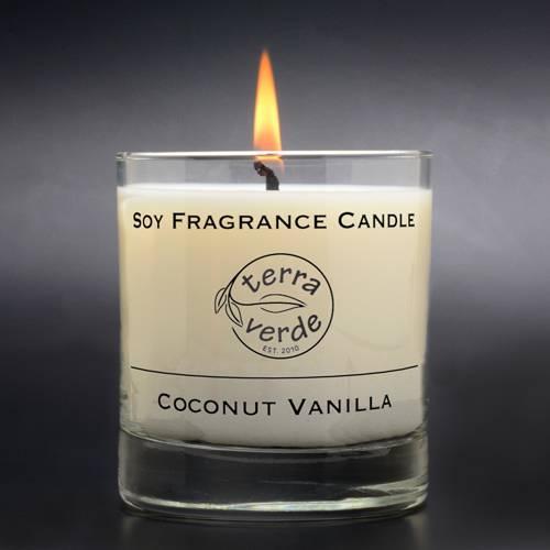 Coconut Vanilla 8oz Soy Candle