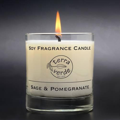 Sage & Pomegranate 8oz Soy Candle