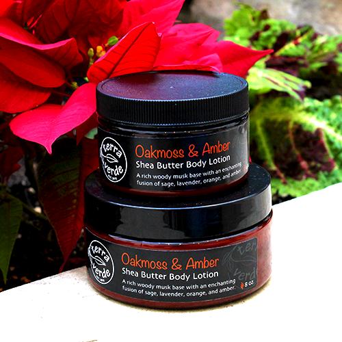 Oakmoss & Amber Shea Butter Body Lotion