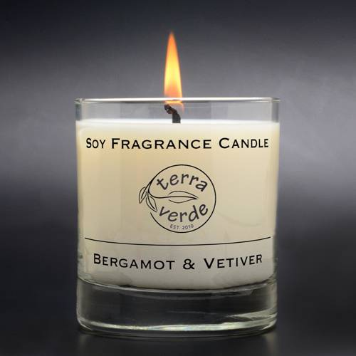 Bergamot & Vetiver 8oz Soy Candle