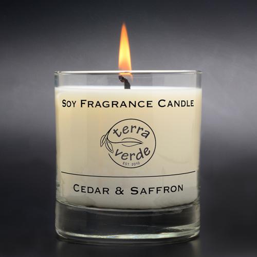 Cedar & Saffron 8oz Soy Candles