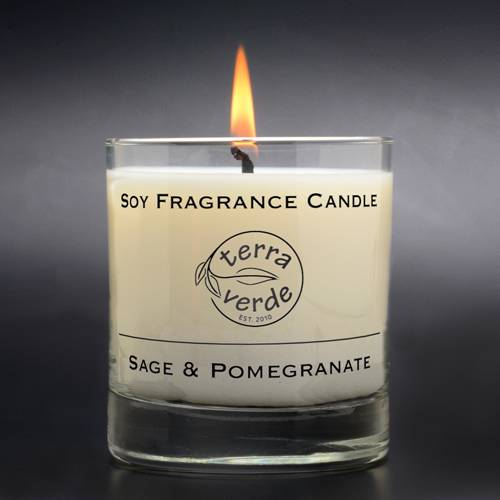 Sage & Pomegranate 8oz Soy Candle