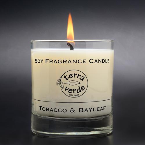 Tobacco & Bayleaf 8oz Soy Candle