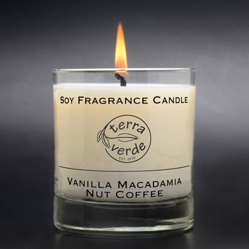 Vanilla Macadamia Nut Coffee 8oz Soy Candle