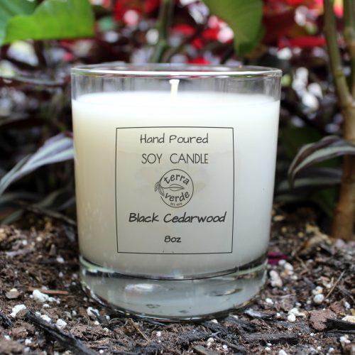 Black Cedarwood 8oz Soy Candle