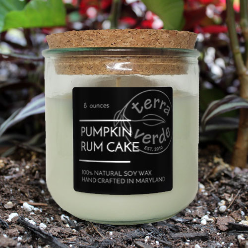 Pumpkin Rum Cake 8oz Soy Candle