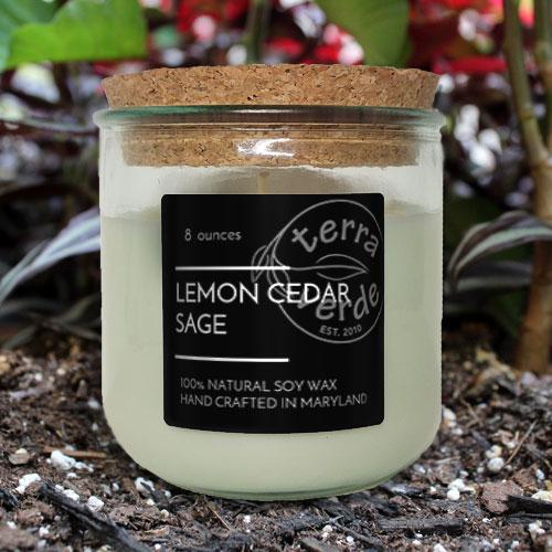 Lemon Cedar Sage - 8oz Soy Candle