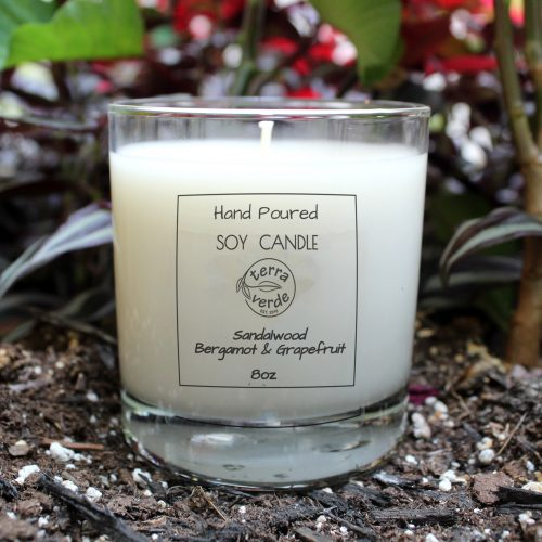 Sandalwood-Bergamot & Grapefruit - 8oz Soy Candle